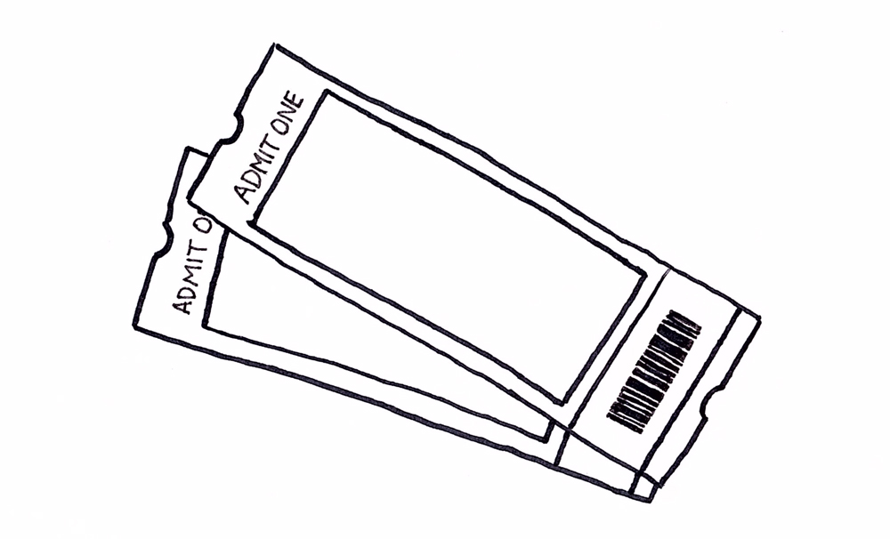 Image of concert tickets