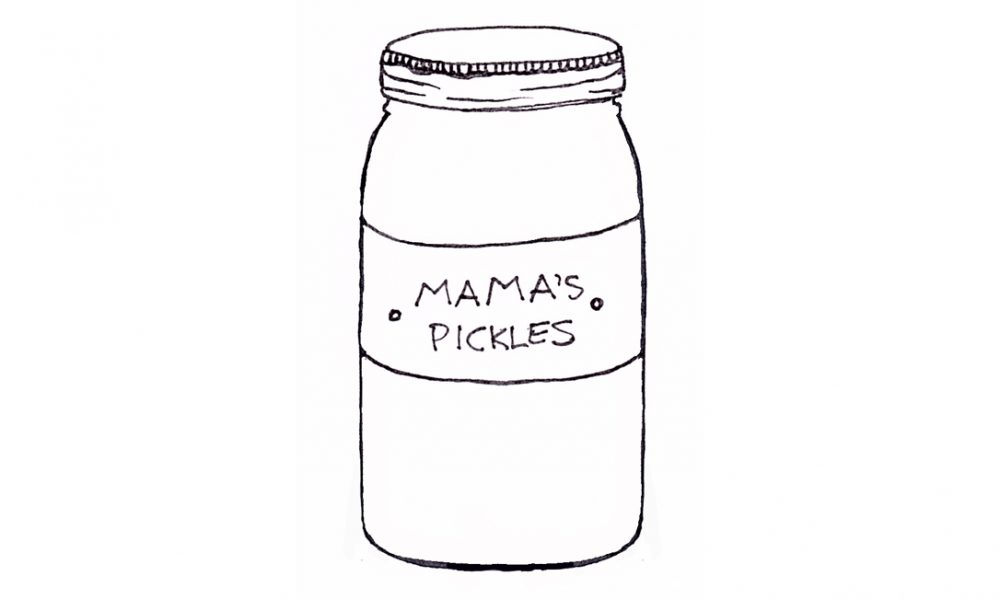 Image of a Homemade Jar of Pickles