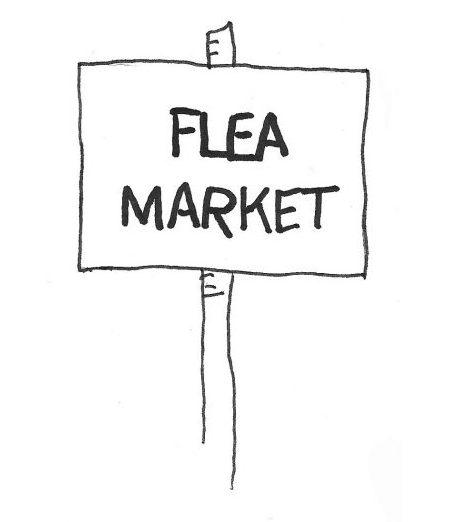 Image of a Flea Market sign