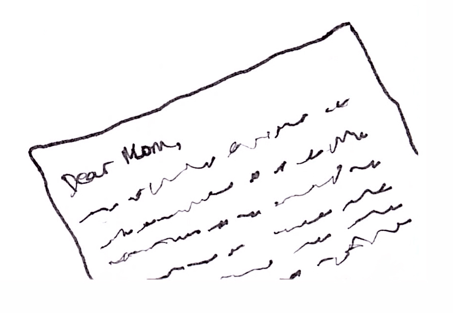 Image of a Dear Mom Letter
