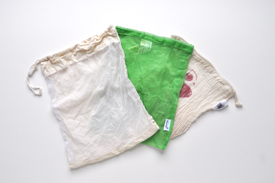 Image of three different types of produce bags