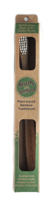 Image of a Bamboo Toothbrush made by Brush with Bamboo