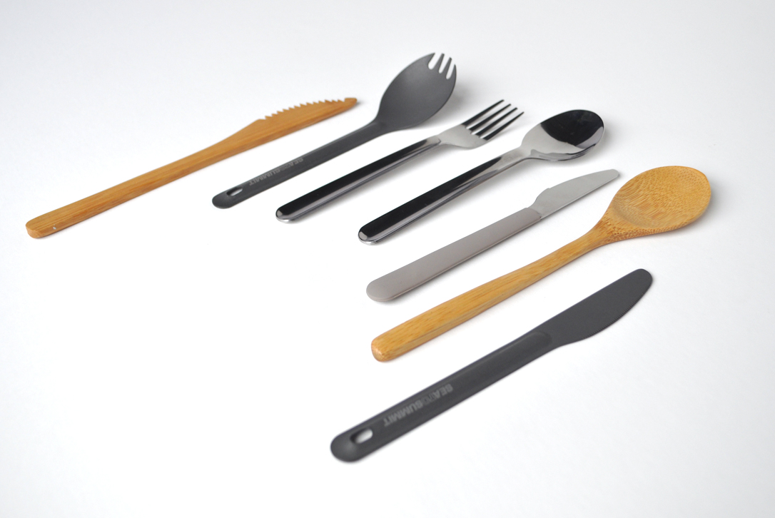Image of several different reusable utensils