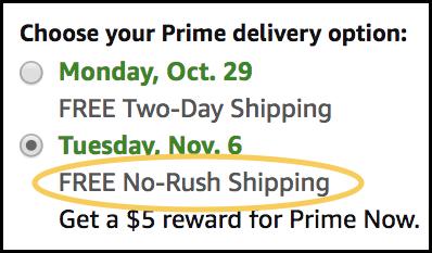 Image of Amazon Shipping Options
