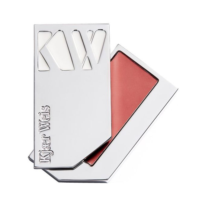 Image of a metal container with Kjaer Weis pink lip tint