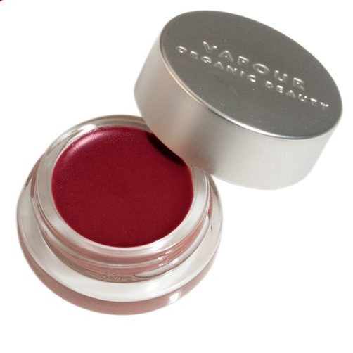 Image of red lip gloss by Vapour in a glass and metal container