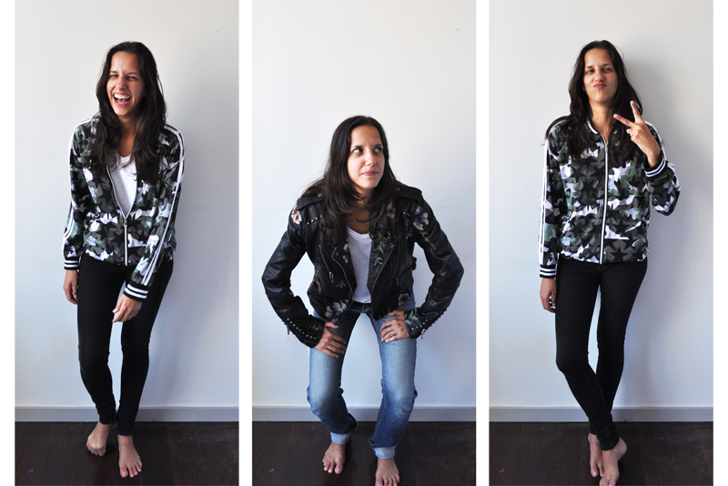 3 Images of outfits found while thrifting