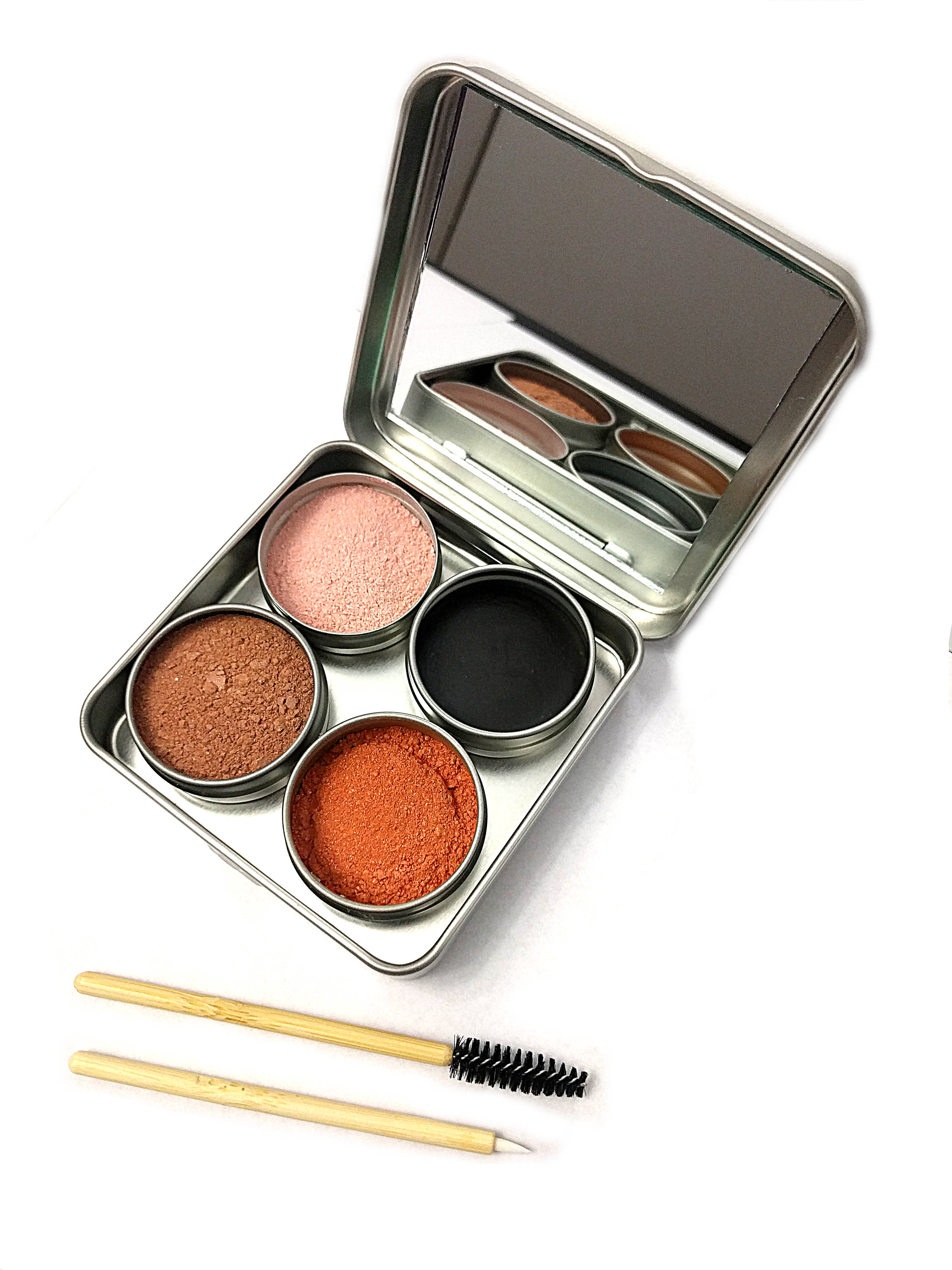 An image of plastic-free makeup, customized to make the ideal, eco-friendly gift