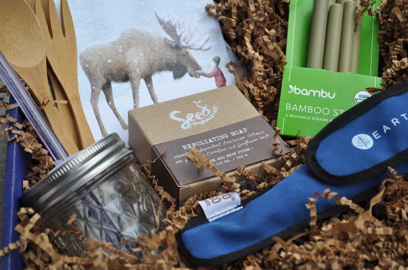 Image of several items in the zero waste gift boxes from EarthHero