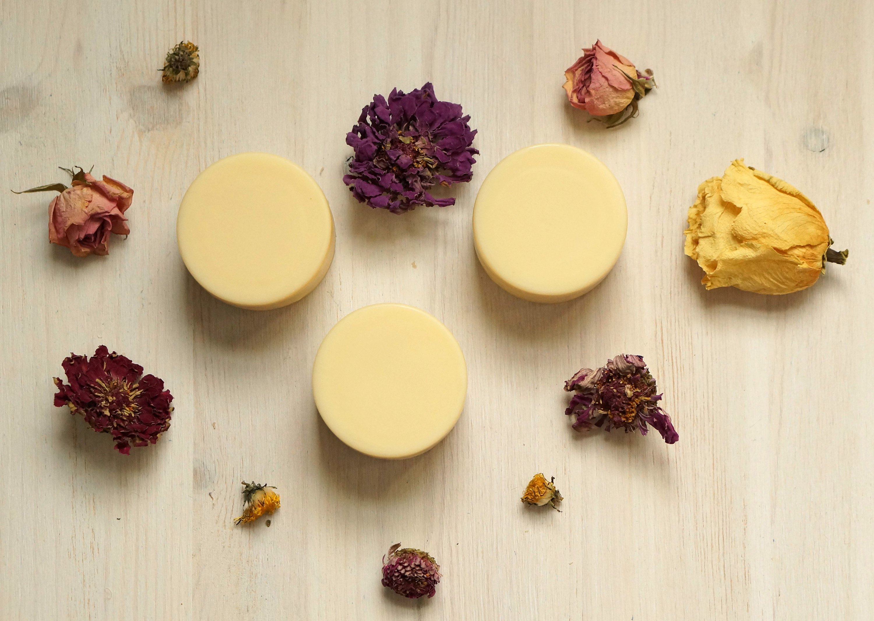 An image of hand-crafted conditioner bars, an eco-friendly gift with zero waste