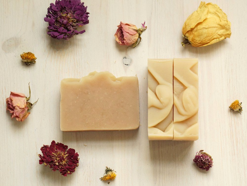 An image of unique, hand-crafted shampoo bars.