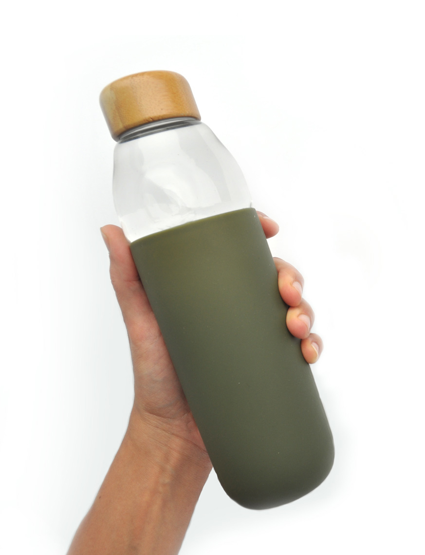 ecologically friendly glass bottle