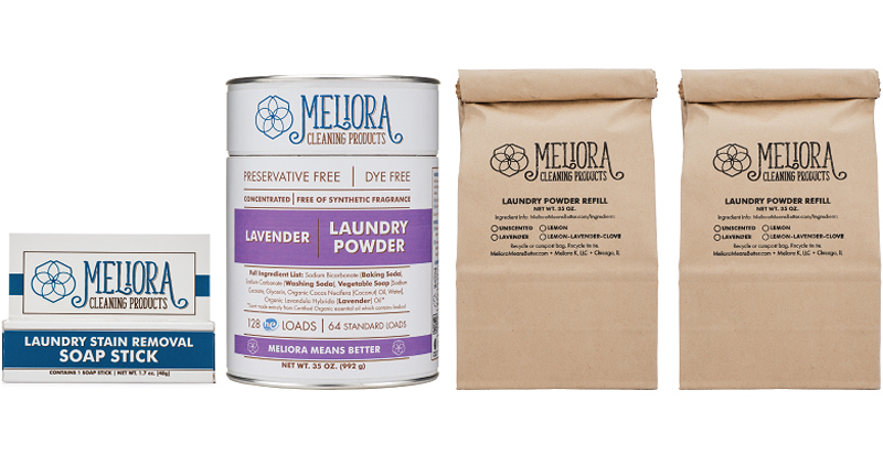 Image of a Meliora laundry starter kit