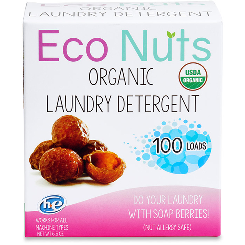Image of box of soap nuts, an eco friendly laundry detergent