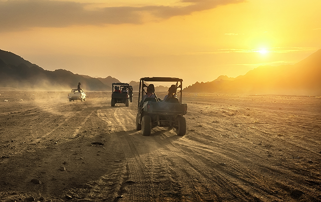 Image of a buggy riding in desert