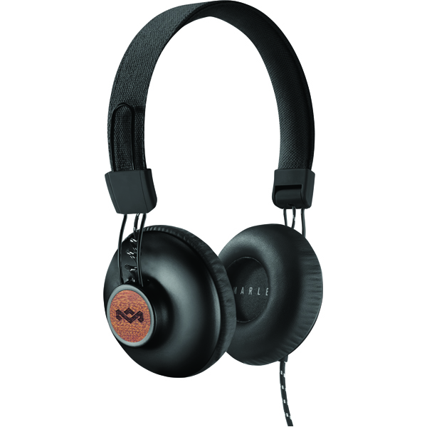 a photo of black headphones by House of Marley