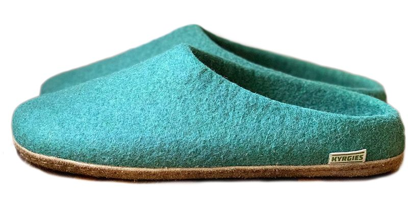 a pair of Kyrgies wool slippers