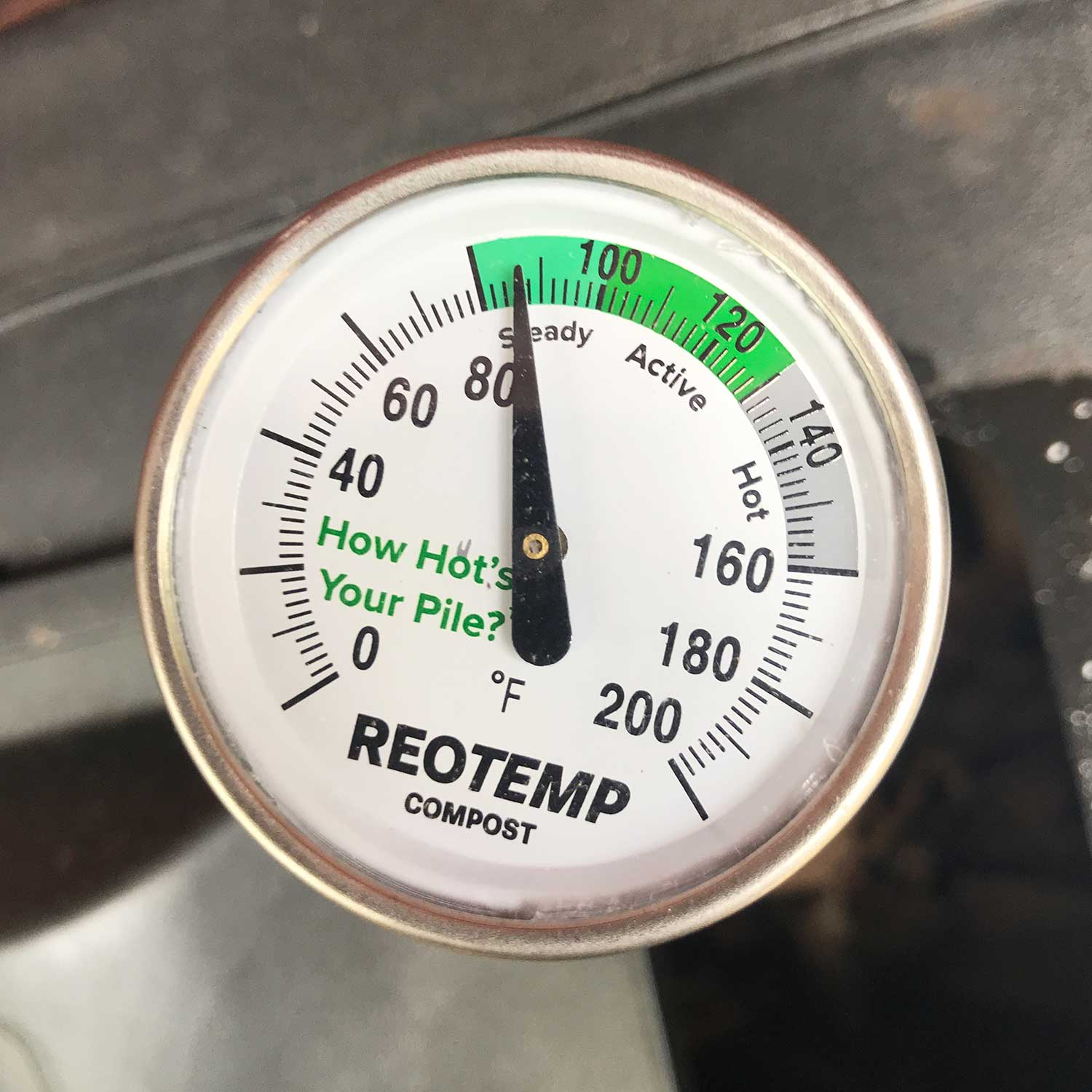 Image of a compost thermometer