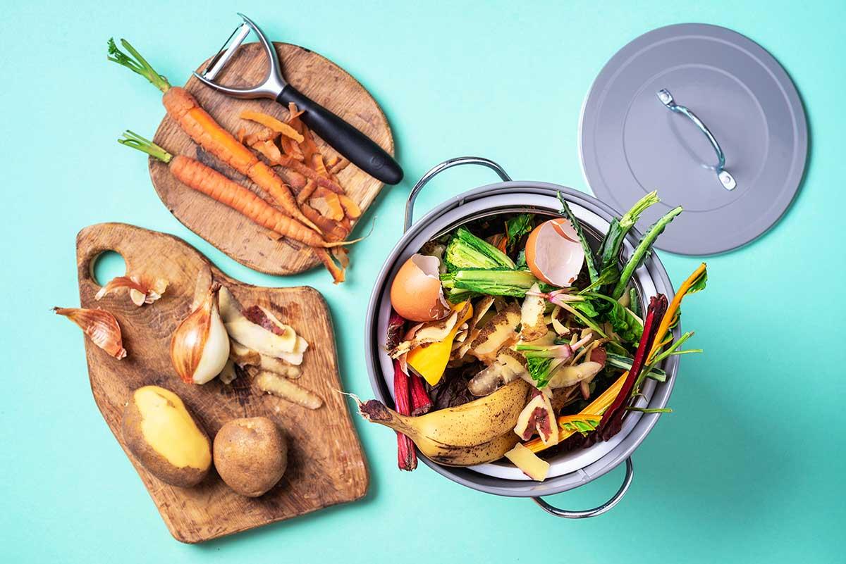 image of vegetable food scraps