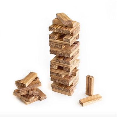 Image of a wooden building block game like Jenga, representing one of the best Christmas gifts