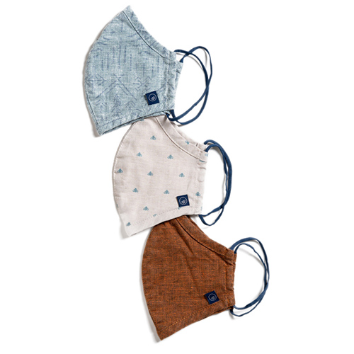Image of three cloth masks made from salvaged fabric, one of the best stocking stuffer ideas for 2020
