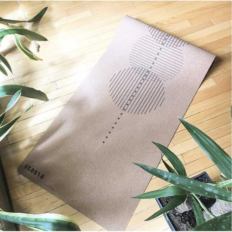 Image of a beige yoga mat